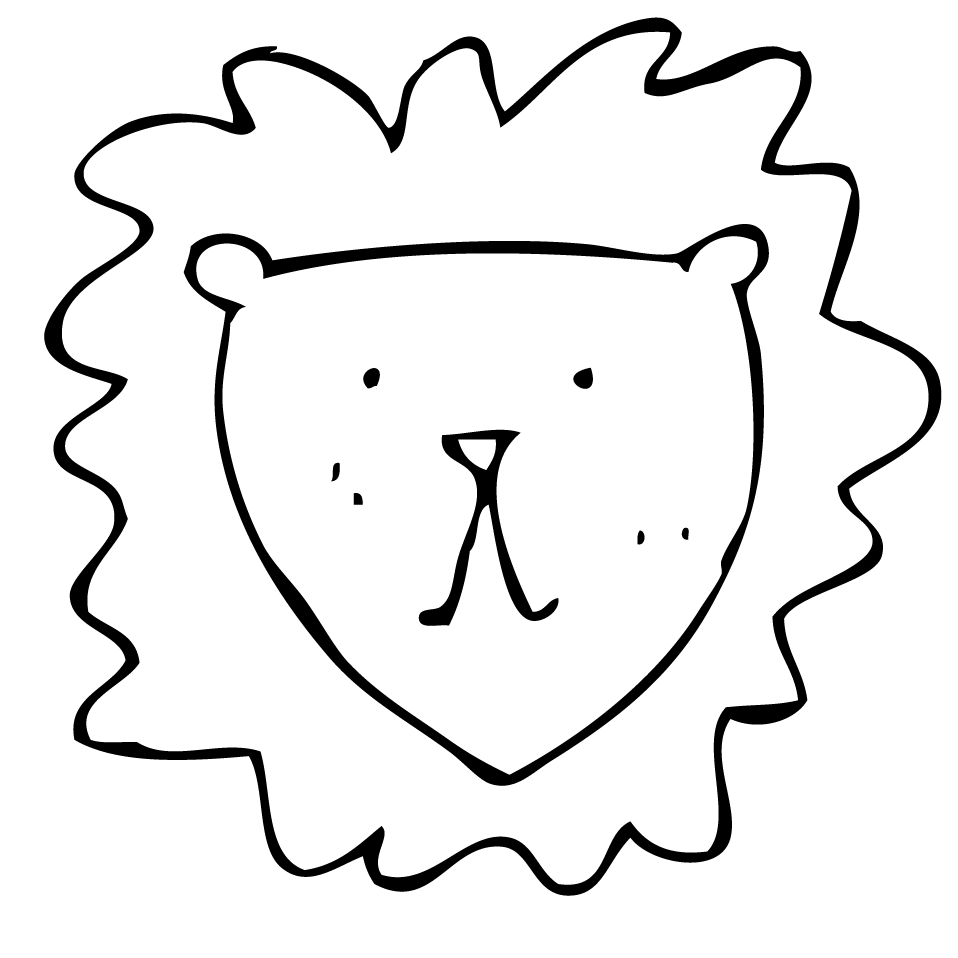 Easy Lion Head Drawing To Draw Drawings Sketch Coloring